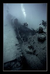 Damaged hull section of the Scire. by Johannes Felten